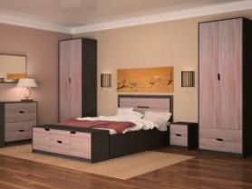 Спальня Мелани (цвет фасада:темный ясень)