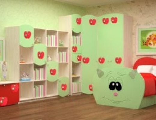 Детская Литл (Цвет фасадов: эвкалипт глянец)