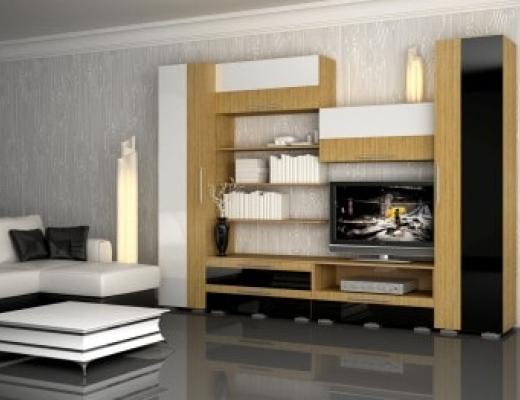Гостиная Турмалин (цвет:черно-белый)