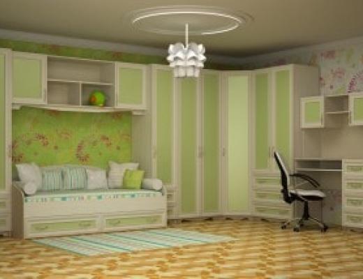 Детская Фантазия (вставки: soft green)
