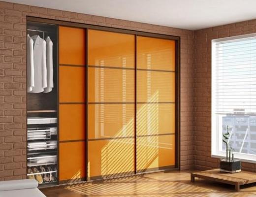 Двери купе для встроенного шкафа (стекло с плёнкой Oracal)