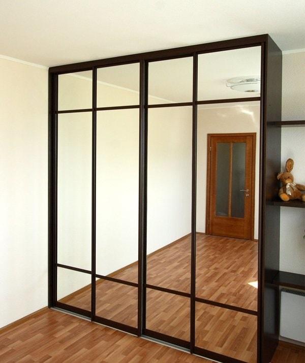 шкаф купе зеркало серебро в прихожую купить мебель на заказ по