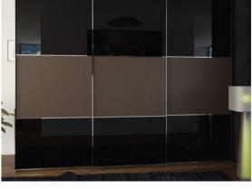 Шкаф купе стекло тонированное с кожей