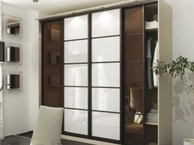 Шкаф купе стекло тонированное прозрачное и стекло с плёнкой Oracal