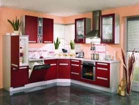 Кухня пластик Arpa (бордо)