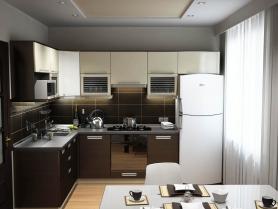 Кухня МДФ двухцветная (текстурная)