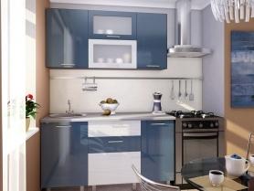 Кухня глянец Лёд